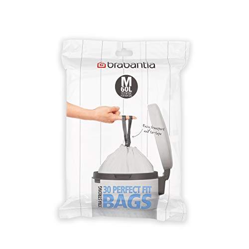 Brabantia Código M Dispensador de Bolsas de Basura para BO 60 litros, Blanco