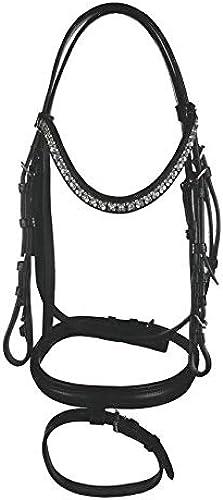 HKM 4057052323119 Crystal Flower-9100 Pony d'équitation Noir