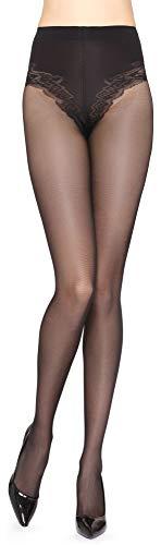 Merry Style Medias Panty Mujer 40 DEN MSGI017 (Negro, L)
