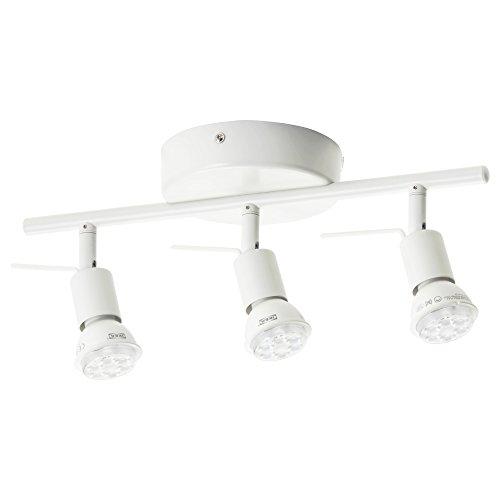 IKEA(イケア)TROSS00262662シーリングトラックスポットライト3個,ホワイト(電球別売)