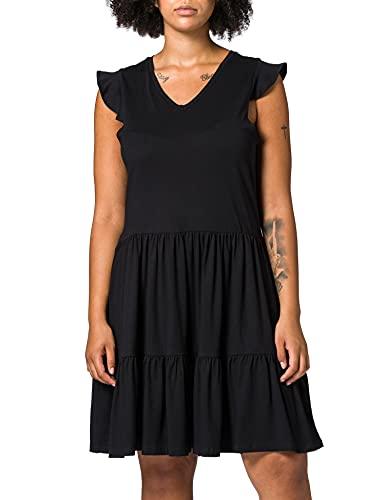 ONLY Carmakoma Carapril SL Frill Dress Jrs Vestido, Negro, 48/50 para Mujer