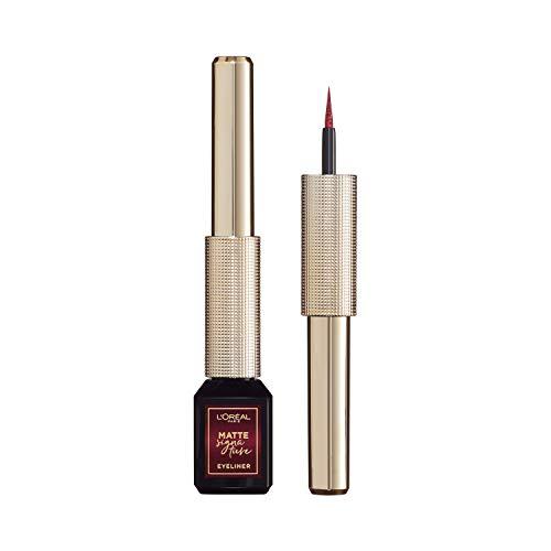L'Oréal Paris Matte Signature Eyeliner, 05 Burgundy, weinroter Eyeliner mit Präzisionspinsel für...