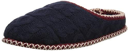 Dearfoams Qilted Cable Knit Clog, Pantofole Donna, Blu Peacoat 00498, 36/37 EU