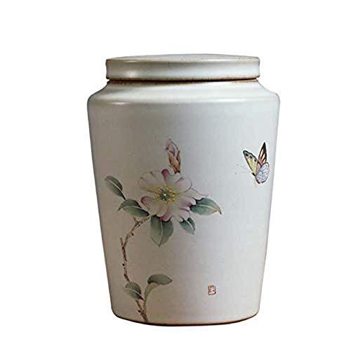DGHJK Urnas de Cenizas Urnas funerarias, conmemorativas de cerámica para cremación, Extragrande, con Capacidad para hasta 250 Pulgadas cúbicas de Cenizas, urnas de cerámica Blanca