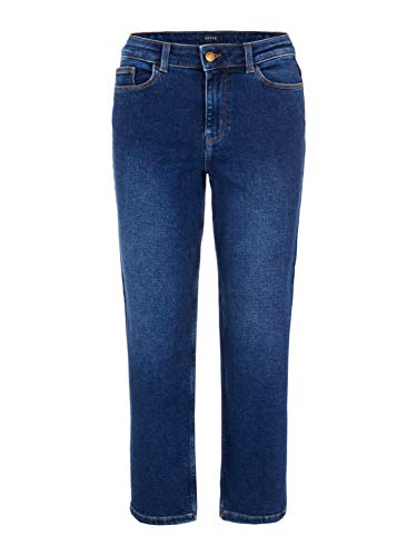 PIECES Damen Jeans 'pcKAMELIA Culotte MW CR JNS DB328' Culotte-Hose Dark-Denim (L)