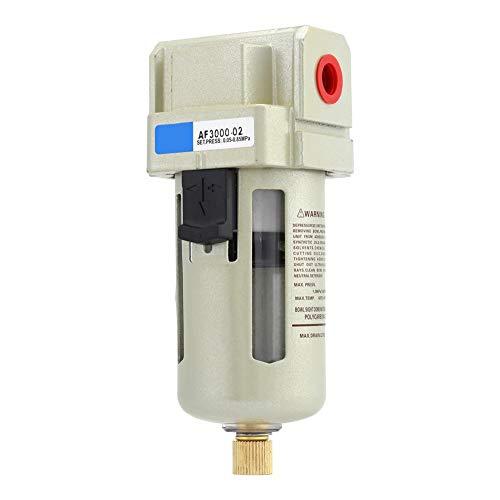 1/4 '' Wasser- und Ölabscheiderfilter, Wasser- und Ölfilter, Maximaler Arbeitsdruck 1,0 MPa, Nenndurchfluss 1500 l/min, PC-Luftfilter