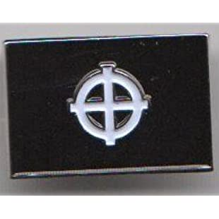 Black Celtic Cross Flag Pin Badge - Exclusive to 1000 Flags of Mid Devon:Maxmartyn