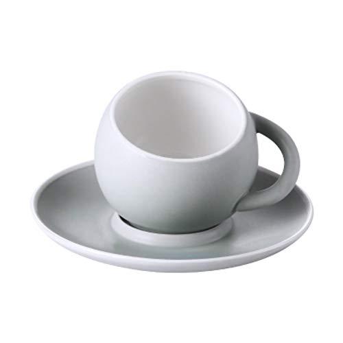 SLSSA Kaffeetasse Mattierte Matte Latte Kaffeetasse Mit Tablett Untertasse Becher Espressotasse