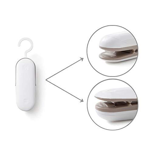 Bushanshu Tragbare Mini-Dichtungs-Maschine tragbare Tasche Clip Hand Sealer Verpackung Plastiktasche Lebensmittel-Retter-Speicher halten Lebensmittel frisch (Color : XE1055H)