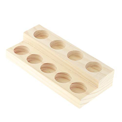 SDENSHI Caja de Madera Hecha a Mano del Tenedor del Soporte del Estante de Exhibición del Aceite Esencial 9pcs 15ml Frascos