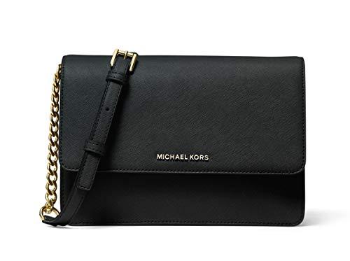 "100% Saffiano leather Crossbody bag Pale gold-tone hardware. Lining: 100% polyester. Snap fastening Exterior details: back snap pocket. Interior details: 6 card slots, center slip pocket, front zip pocket Adjustable strap: 20.5""-24.5"" 9.5""W X 6.5""H X..."