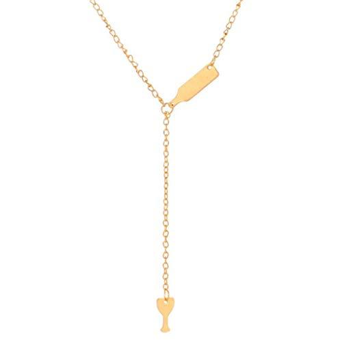 Yowablo Halskette Gold Weltkugel Kette AnhäNger KettenläNge Goldkette Ankerkette Sterling Silber Herz KöNigskette Schlangenkette Silberkette (Gold)