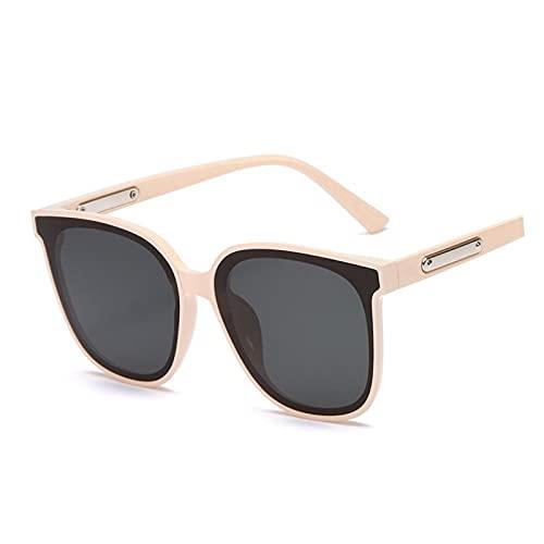 XINMAN Moda a prueba de viento Gafas de sol de conducción de los hombres Gafas Especiales de tendencia Personalidad Sombrilla Gafas Cremoso Amarillo Marco Negro Gris Película