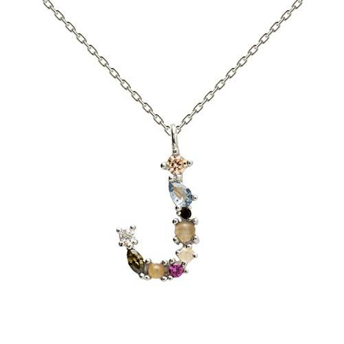 Necklace P D PAOLA CO02-105-U silver, letter J