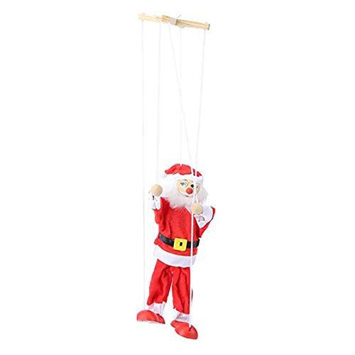 Leobtain Marionette Marioneta Juguete de Papá Noel Muñeco de Nieve Cadena de Marionetas Colgando Decoración para Niño Niño Niño