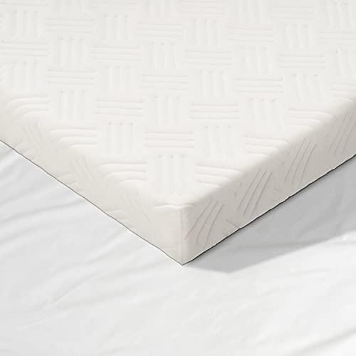 Sobrecolchón 180 x 200 cm, 6 cm, antibacteriano, colchón de espuma viscoelástica para cama con somier, colchón de muelles, autocaravana, sofá de dormir, camping salvaje