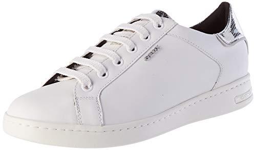 Geox Damen D Jaysen B Sneaker, White/Silver, 39 EU