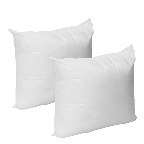 """2 Pack - 20"""" L x 20"""" W Hypoallergenic Deco Pillow Insert in Polyester Pillow Form Made in USA"""