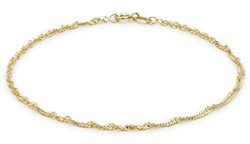 Carissima Gold Damen 9k (375) Gelbgold Diamantschliff 2mm 30 PG Twist Panzerkette-Armband 18cm/7zoll 1.23.0471