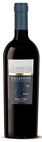 6x 0,75l - 2017er - Farnese Vini - Fantini - Edizione Cinque Autoctoni - Vino da Tavola - Abruzzen - Italien - Rotwein trocken