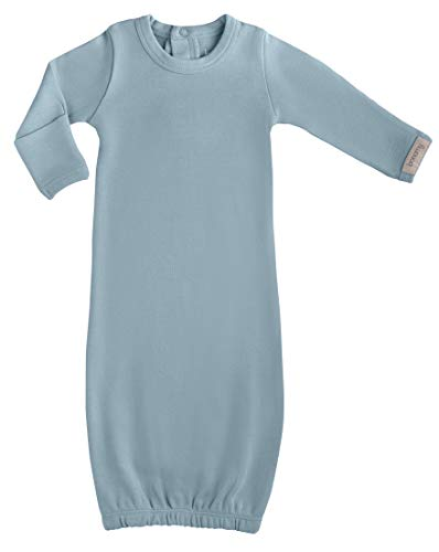 bonamy Neutral Gloved Sleeve Baby Sleeper Gown Organic Cotton with Mitten Cuff Hand Covers for Newborn Baby Boy or Girl