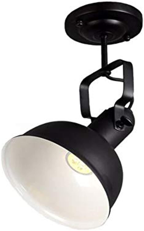 HUAQIMEI Led-kronleuchter Für Den Flur Moderne, Schwarze Kunst Aus Eisen Küchen-deckenleuchten Vintage Led Spotlight Deckenleuchte Retro Semi Flush Hngelampe
