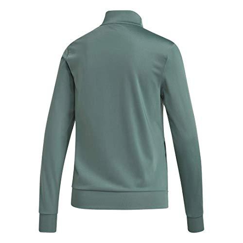 adidas Women's Essentials Long Sleeve Tricot Track Top, Tech Emerald, XS