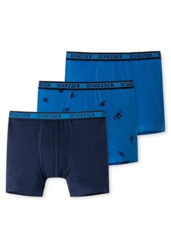 Schiesser Jungen Organic Cotton Boxershorts (3er Pack), Sortiert 2, 104