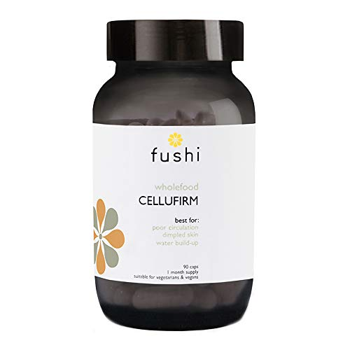 Fushi Cellufirm Cellulite Supplement, 90 Caps | Formulated with Green Tea Extract and Yerba Mate | Ethical & Vegan | Made in The UK