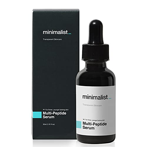 Minimalist Multi Peptide Night Face Serum for Ageless Younger Skin, 30 ml | Collagen Boosting, Hydrating & Overnight Repair Serum for Women & Men with 7% Matrixyl 3000 & 3% Bio-Placenta