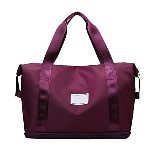 Bolsa deportiva de gran capacidad, color rosa y ligero, bolsa de viaje de tela Oxford, bolsa de...