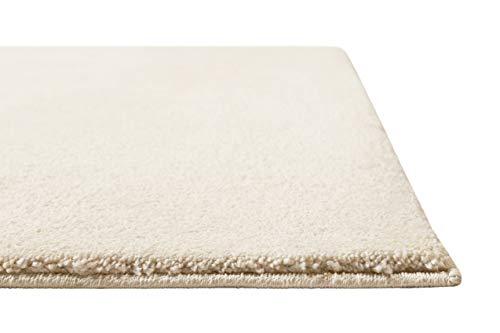 Homie Living | Kurzflor Teppich Super Soft, weich und kuschelig für Wohnzimmer, Schlafzimmer, Flur oder Kinderzimmer | Venice | Beige Creme | (80 x 150 cm)