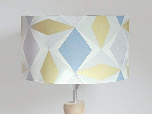 abat-jour motif géométrique scandinave Luminaire chambre bébé cylindre rond idée cadeau enfant décoration naissance anniversaire fête des mères