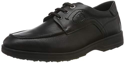 24 HORAS 10679, Zapatos de Cordones Brogue para Hombre, (Negro 7), 39 EU