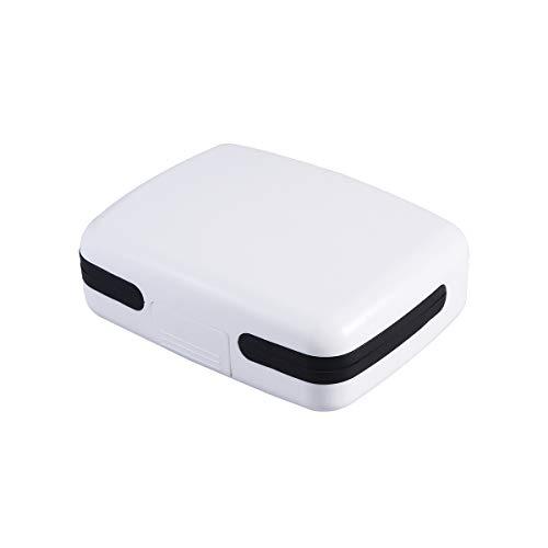 SUPVOX Hörgeräte Box Trockenbox Trockenstation Etui für Hörgeräte Tragbar (Weiß)