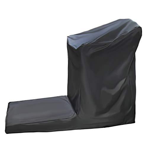 MAGFYLY Treadmill beschermhoes voor thuis hardlopen, sport hardloopmachine beschermende vouwhoes stofdicht waterdicht binnen/buiten cover (zwarte kleur)