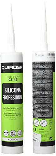 Quiadsa 52500592 CS-45 Sellador de Silicona Acética Gris