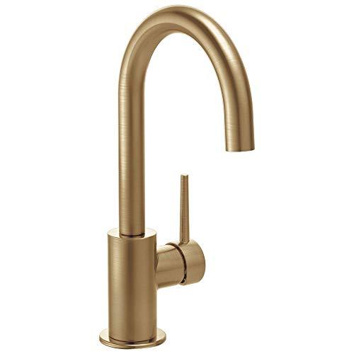Delta Faucet Trinsic Single-Handle Bar-Prep Kitchen Sink Faucet, Champagne Bronze 1959LF-CZ