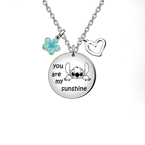 SEAL limited product Cheap bargain You Are My Stitch Sunshine Necklace