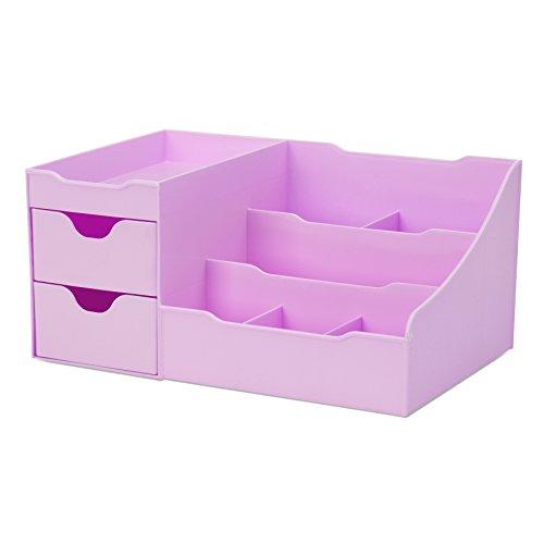 Uncluttered Designs Make-up Organizer Mit Schubladen (2 Schublade, Violett)