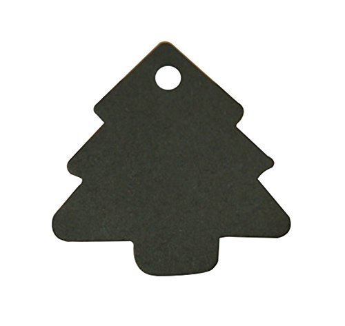 Gespout Label Luggage Hang Tags White Kraft Paper Crafts DIY For Travel Message Hung Card Tree Shape 5.5 * 5.4cm 100pcs Black