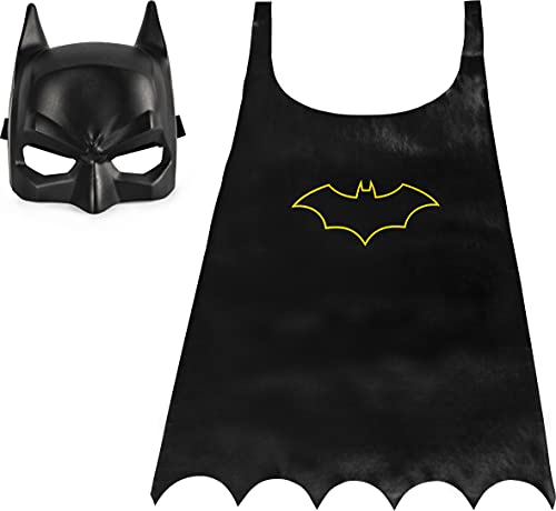BATMAN Classic Mask and Cape Set for Role-Play Dress-Up, for Kids Aged 4 and Up