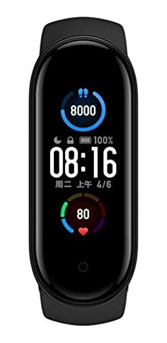 MI BAND 5 VERSÃO GLOBAL - Rastreador de atividades AEE para atividades físicas, à prova d 'água, pulseira de exercícios e à prova d'água, tela sensível ao toque de 3,8 cm, relógio esportivo Nome do produto