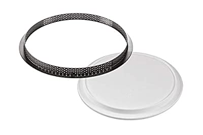 """Silikomart""""Kit Tarte Ring 230"""" Silicone Mold 7.48 Inch Diameter x 0.78"""" High with Heat-Resistant Plastic Ring"""