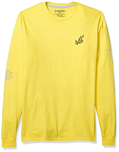 Volcom Herren Men's Lopez Web Basic Long Sleeve Tee Hemd, True Yellow, Mittel