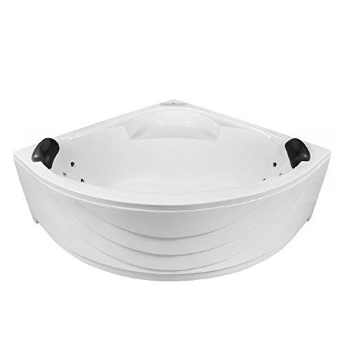 AQUADE 150x150cm Whirlpool Badewanne Indoor-Whirlpool SPA Pool Wanne 150 x 150 mit Armatur Air Relax Modell: Freiburg 7160