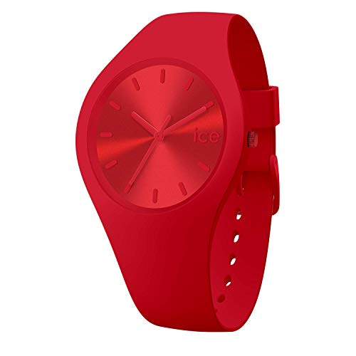 Ice-Watch - ICE colour Spicy - Rote Herren/Unisexuhr mit Silikonarmband - 017912 (Medium)