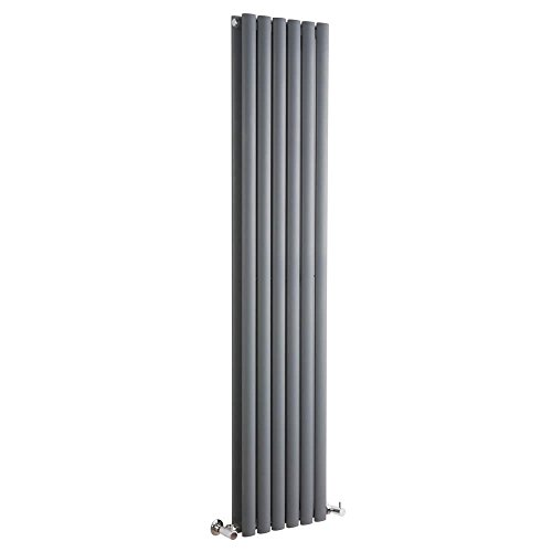 Milano Hudson Reed Vitality – Radiateur Design Vertical – Anthracite – 160 x 35,4cm Double Rang