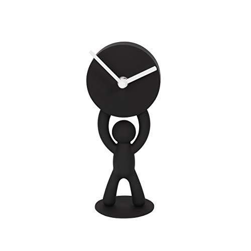 Umbra 118510-040 Buddy Schreibtischuhr, schwarz, Polystyrene, 22x9x8 cm