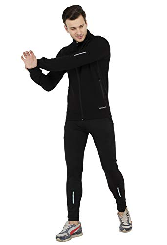 color club 1 Men's Stylish Sportswear Black Track Suit Fully Stretchable